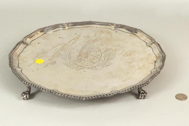 English Sterling Silver Salver, London 1771