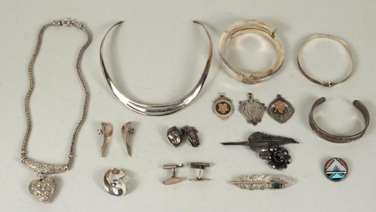 Group Sterling Silver Jewelry Including G. Jensen