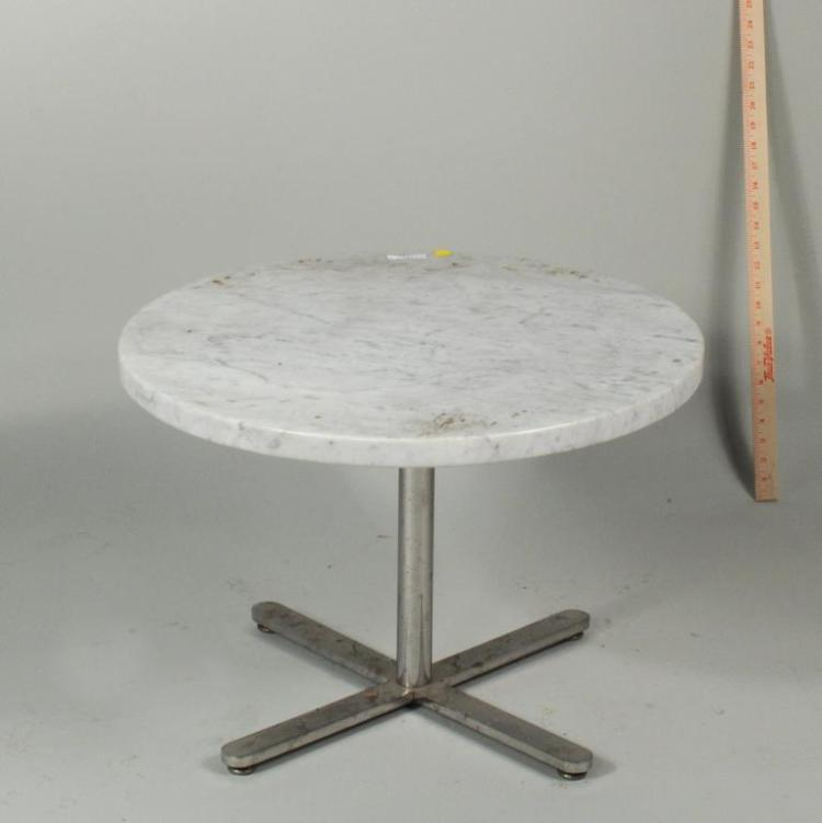 Mid-Century Marble Top Occasional Table