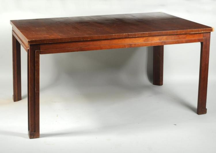 Mid-Century Modern Veneered Dining Table
