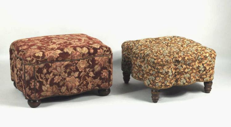 Two Contemporary Ottomans, Upholstered