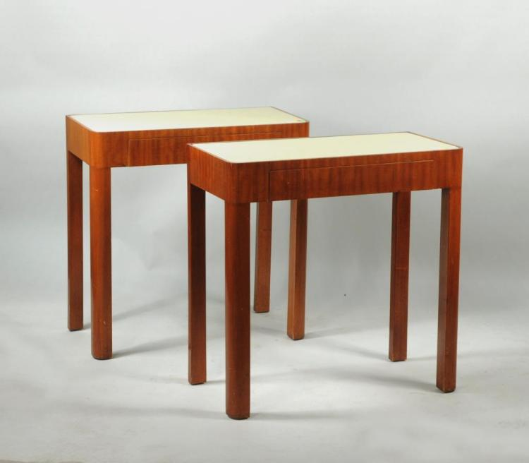 Pair Modern Deco Style Consoles