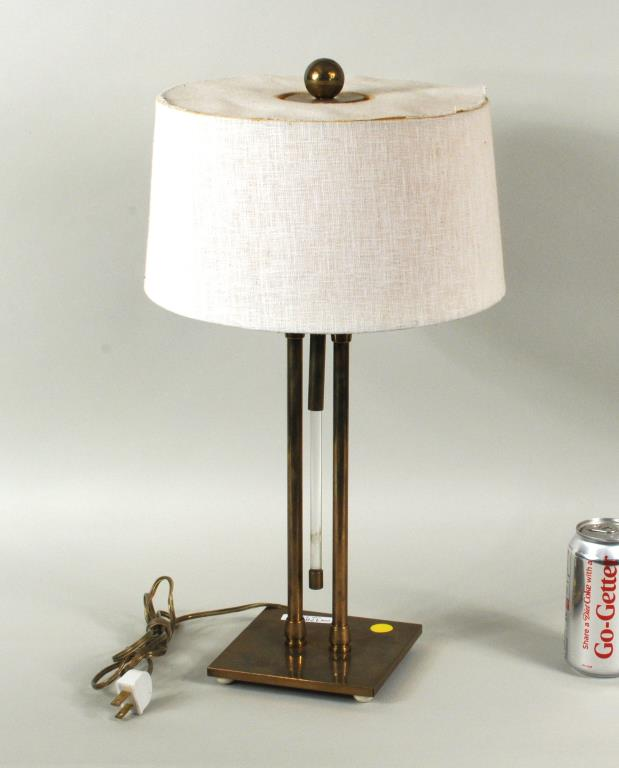 Mid-Century Brass & Lucite Table Lamp