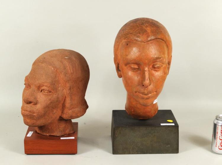 Two Mid-Century Terra Cotta Sculptures, B. Vogt