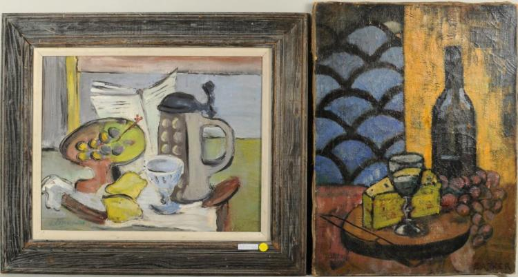 Two Mid-Century Still Lifes O/C