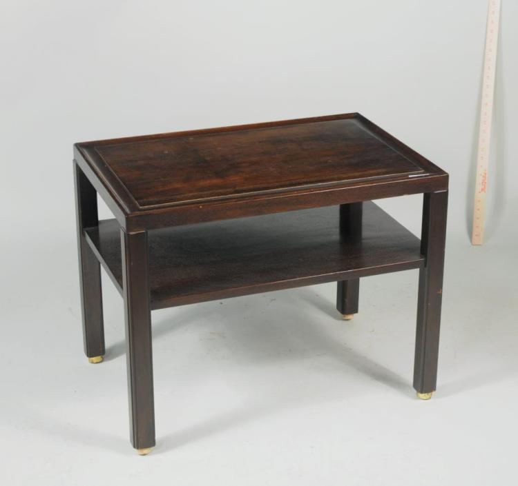 Labeled Dunbar Mid-Century Wooden Side Table