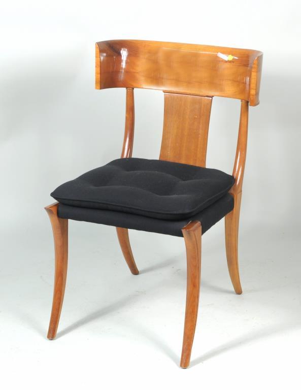 Modernist Mahogany Klismos Chair
