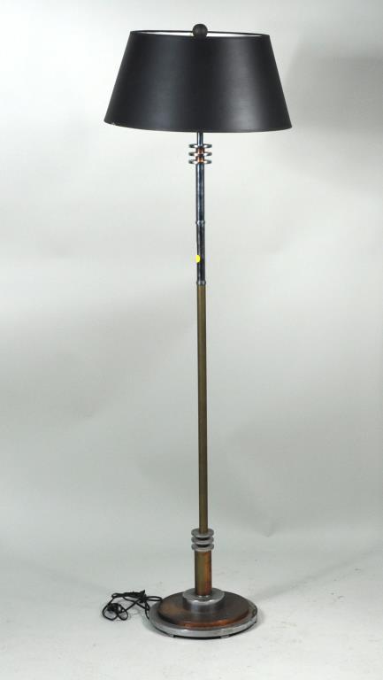 Modernist Chrome & Metal Floor Lamp