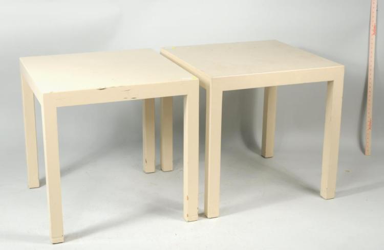 Pair Modernist Parsons Tables