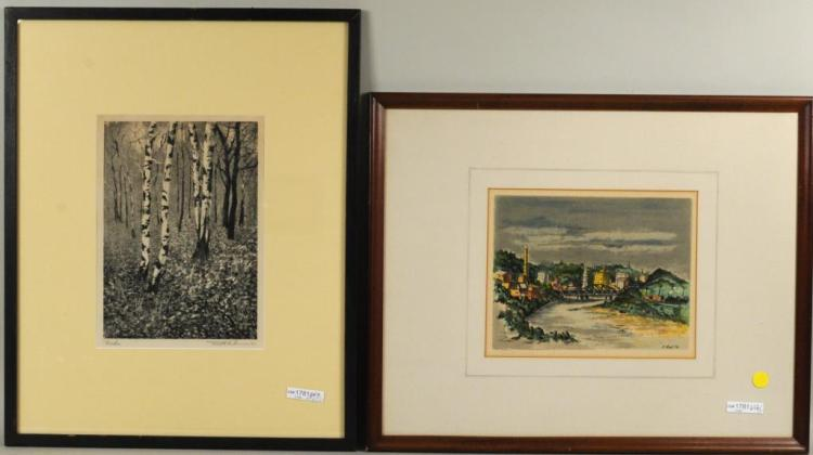 Two Mid-Century Framed Prints