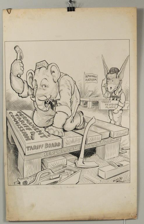 Charles Lewis Bartholomew Political Cartoon