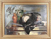 """Peppino Mangravite """"Masque- Grapes Paris 1932"""" O/C"""
