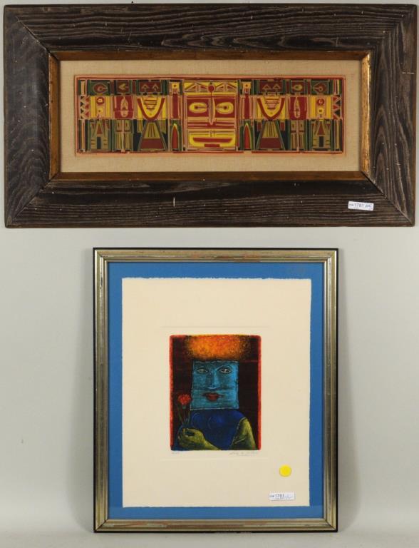 Luis Solari, Colored Embossing, Plus Print