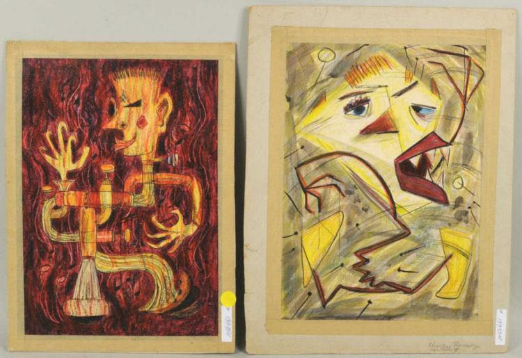 C. Ramsey Jr., Two Abstract Works On Paper
