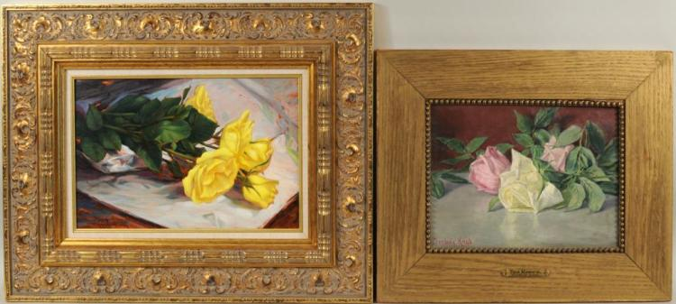 Two Small Floral Paintings