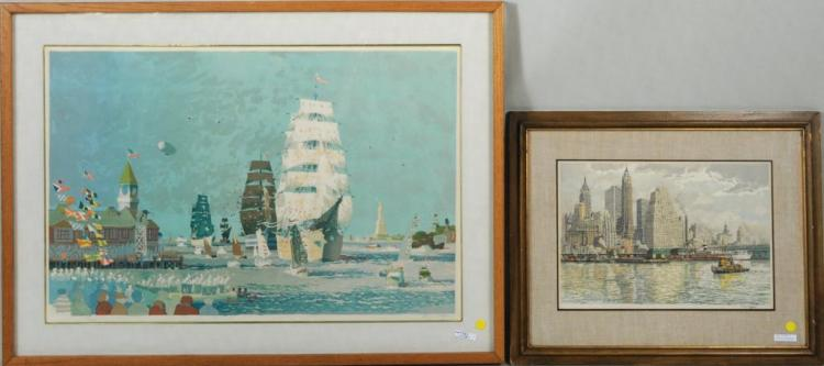 D. Kingman, Two Harbor Prints