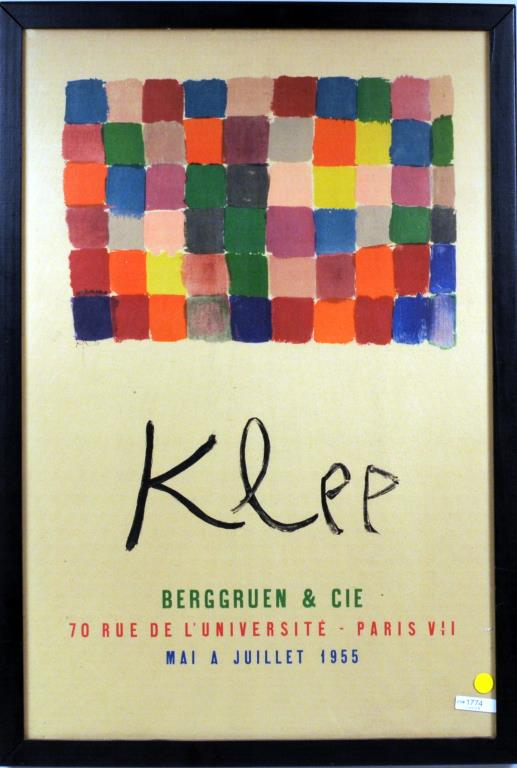 Vintage French Paul Klee Gallery Exhibition Poster
