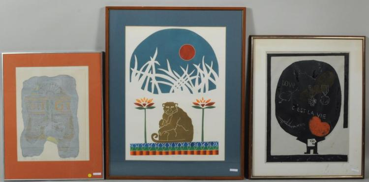 Three Framed Artworks
