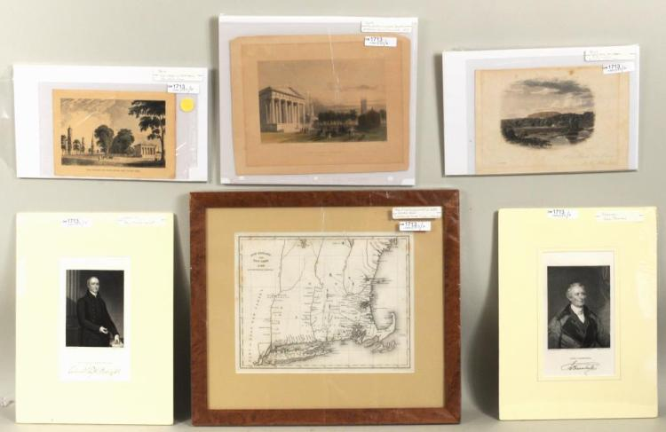 Group Six Small Hand Colored Prints & Engravings