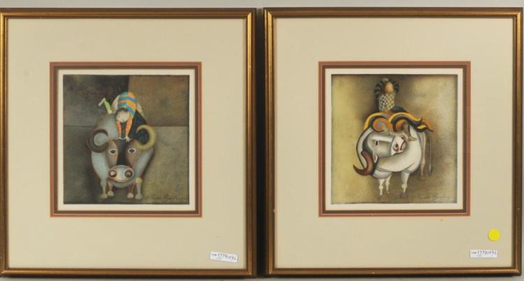 Graciela Rodo Boulanger, Two Framed Prints