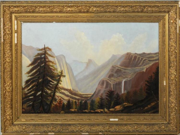 Primitive Landscape O/C, View Yosemite Falls