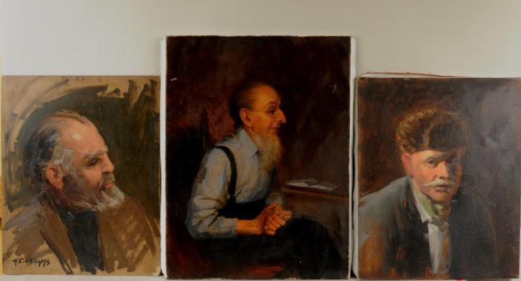 Herbert E. Abrams, Three Male Portraits