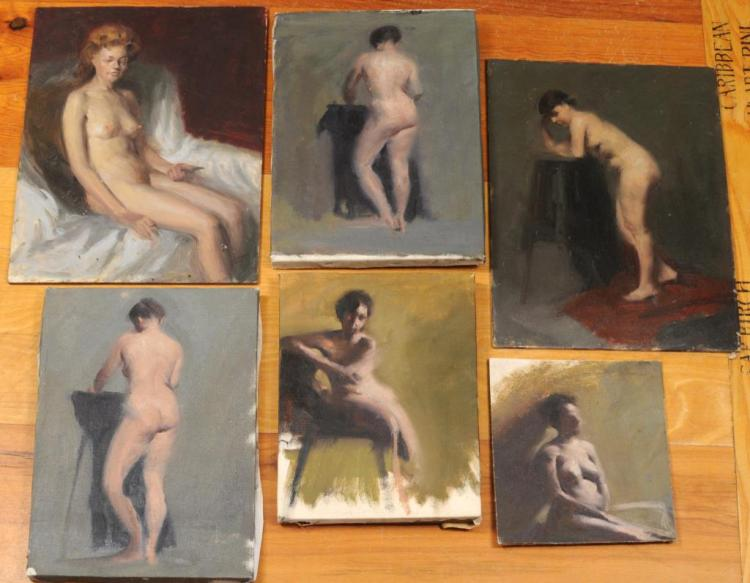 From Estate Herbert E. Abrams Six Nude Studies