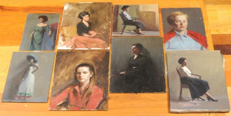 From Estate Herbert E. Abrams 8 Female Studies