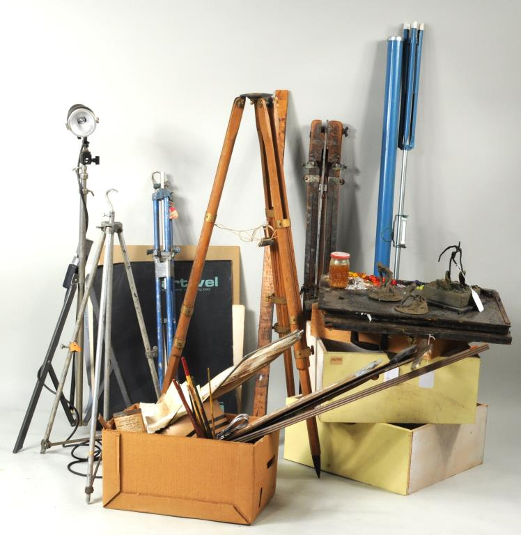 From Estate Herbert E. Abrams, Group Artists Tools