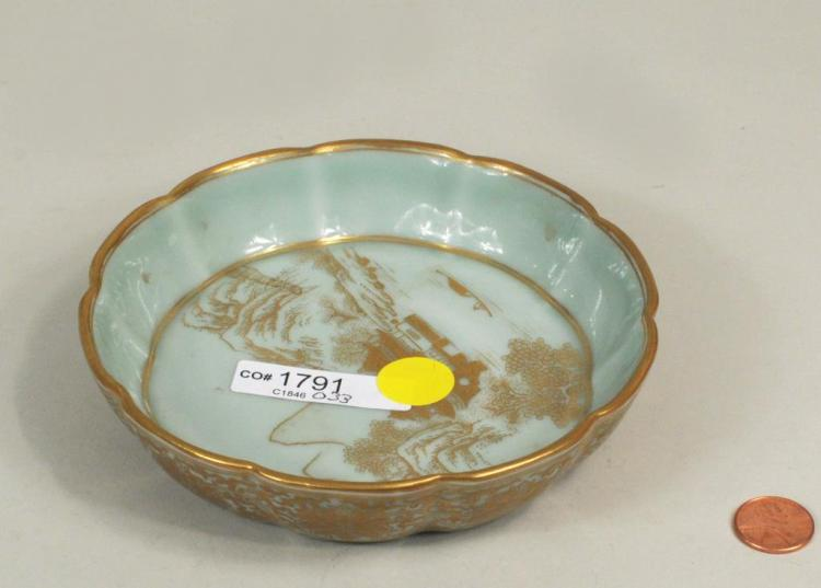 Small Chinese Porcelain Lobed Dish