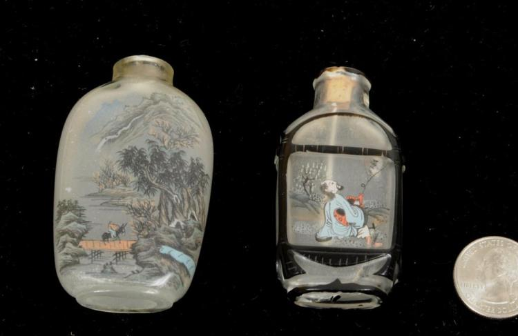 Two Chinese Signed Interior Painted Snuff Bottles