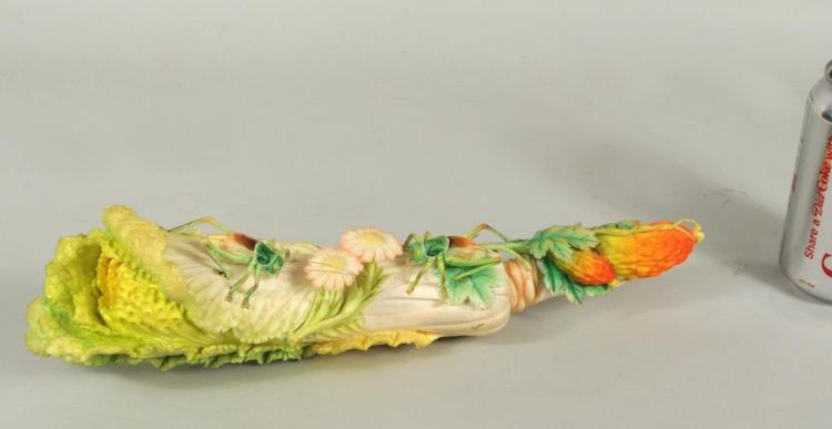 Japanese Carved & Polychromed Ivory Vegetable Grp.