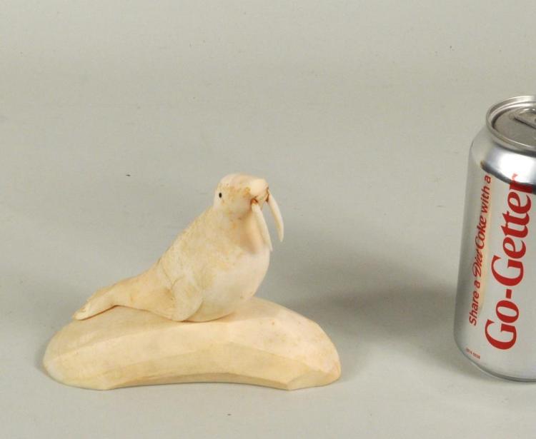 Eskimo Walrus Ivory Carving