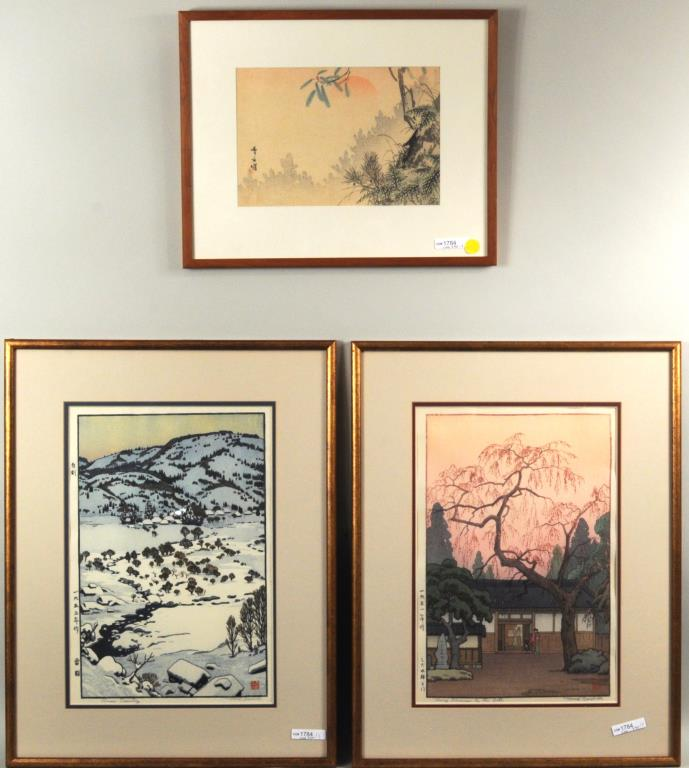 Toshi Yoshida Two Woodblock Prints