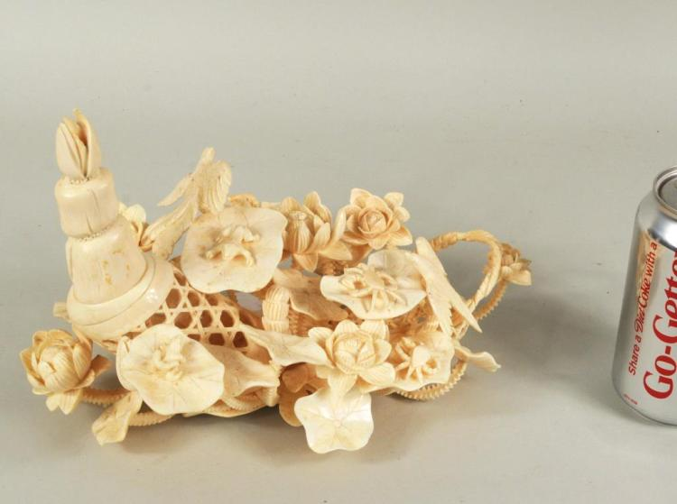 Asian Carved Ivory Group