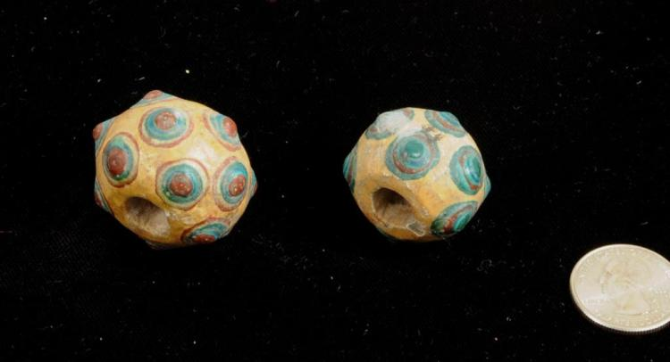 Two Chinese Warring States Beads