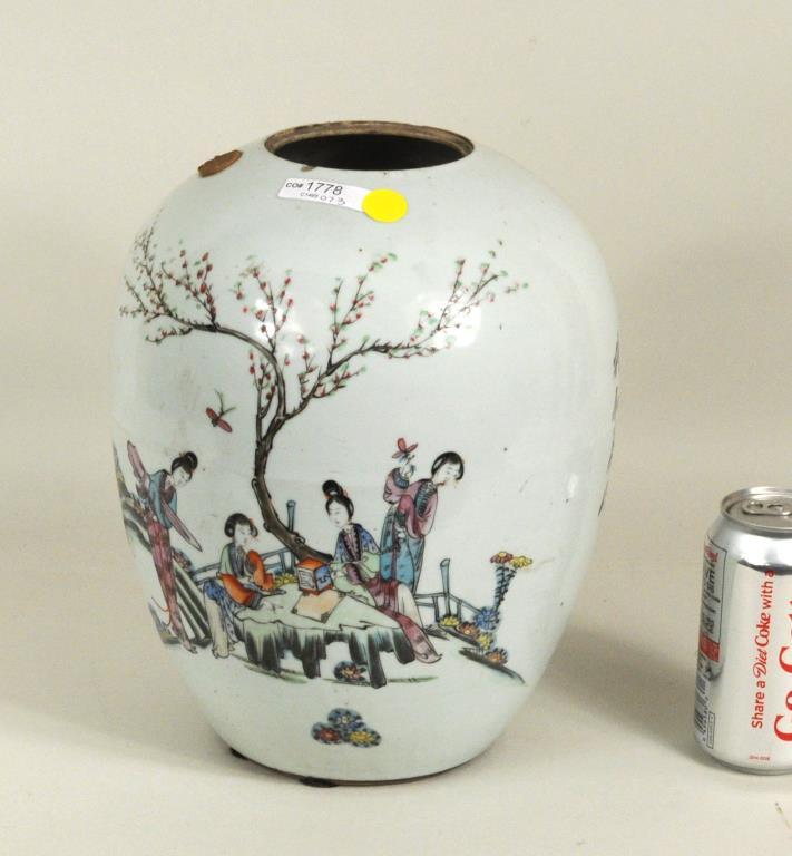 Large Chinese Ovoid Storage Jar