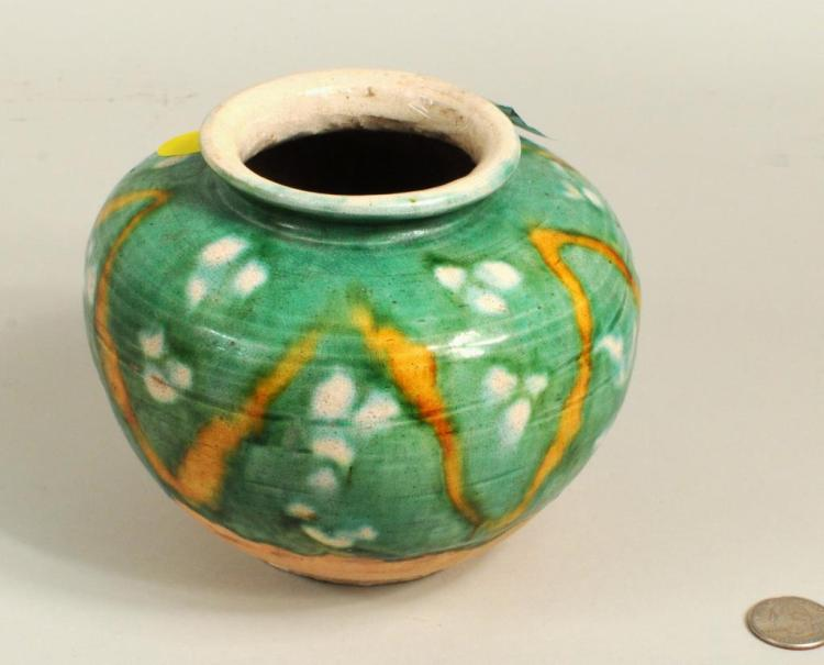 Chinese Sancai Glazed Pot