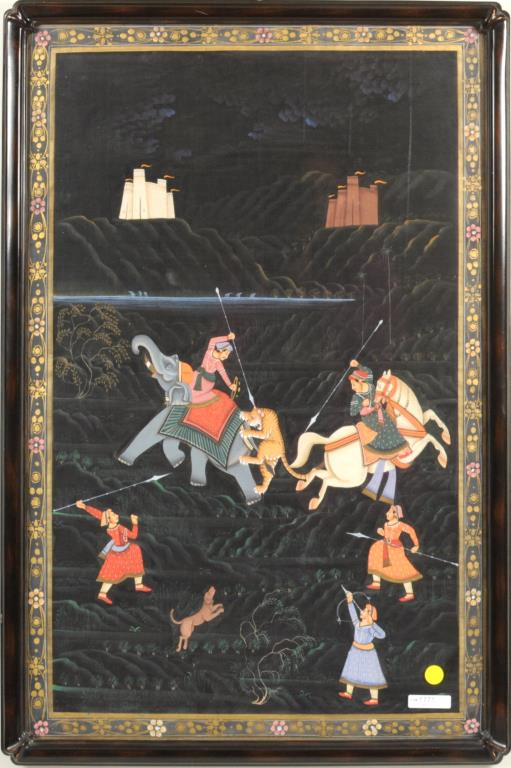 Contemporary Indian Painting Pigments/Gilt/Fabric