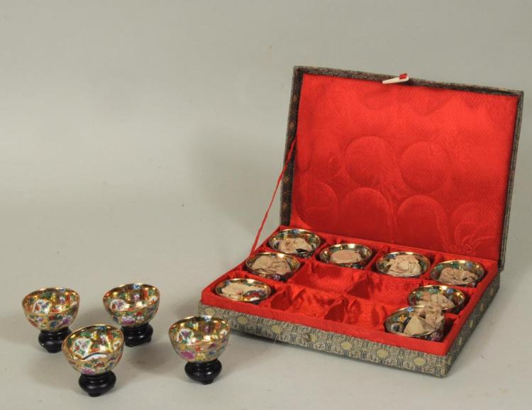 Twelve Miniature Asian Porcelain Bowls