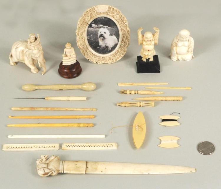 Group Asian Ivory & Bone Items