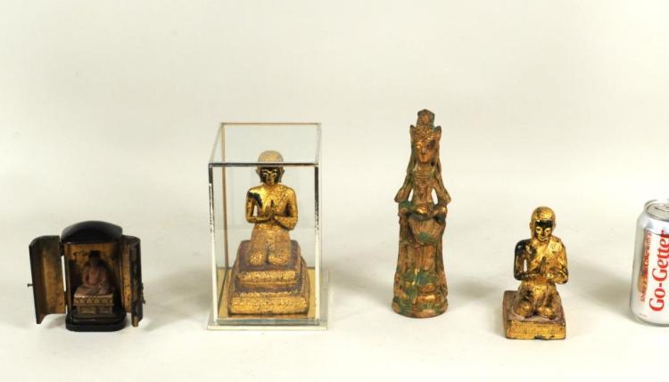 Four Asian Figures Of Deities