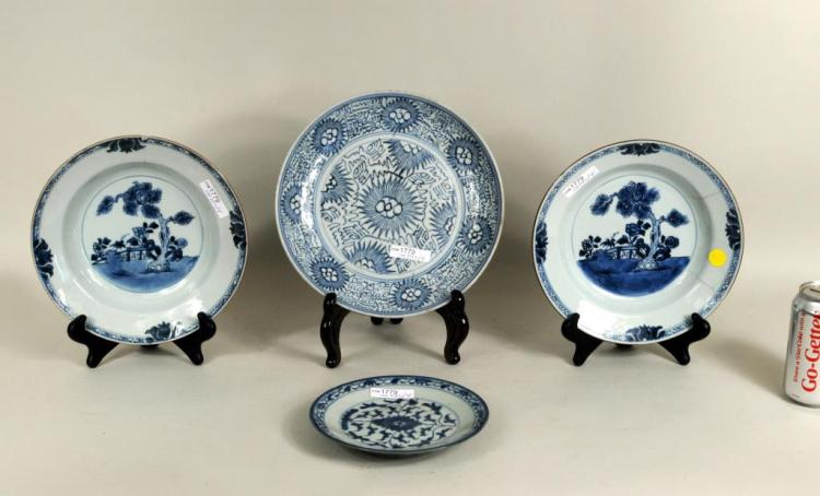 Group Four Chinese Blue & White Porcelains
