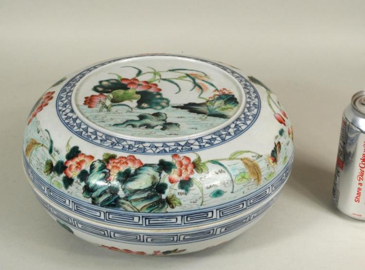 Large Chinese Porcelain Covered Container