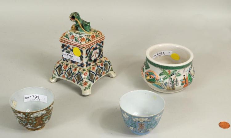 Four Chinese Porcelain Wares