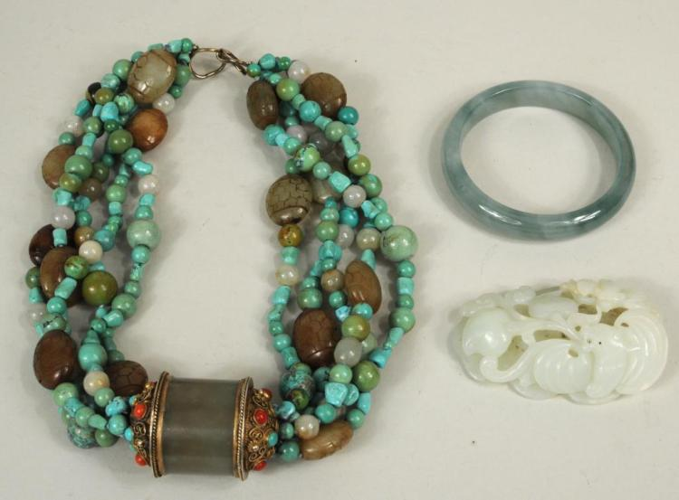 Three Jade & Jadeite Adornments