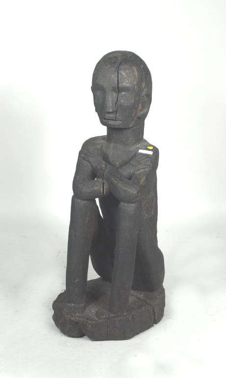 Philippine Ifugao Bulul Carved Seated Male Figure
