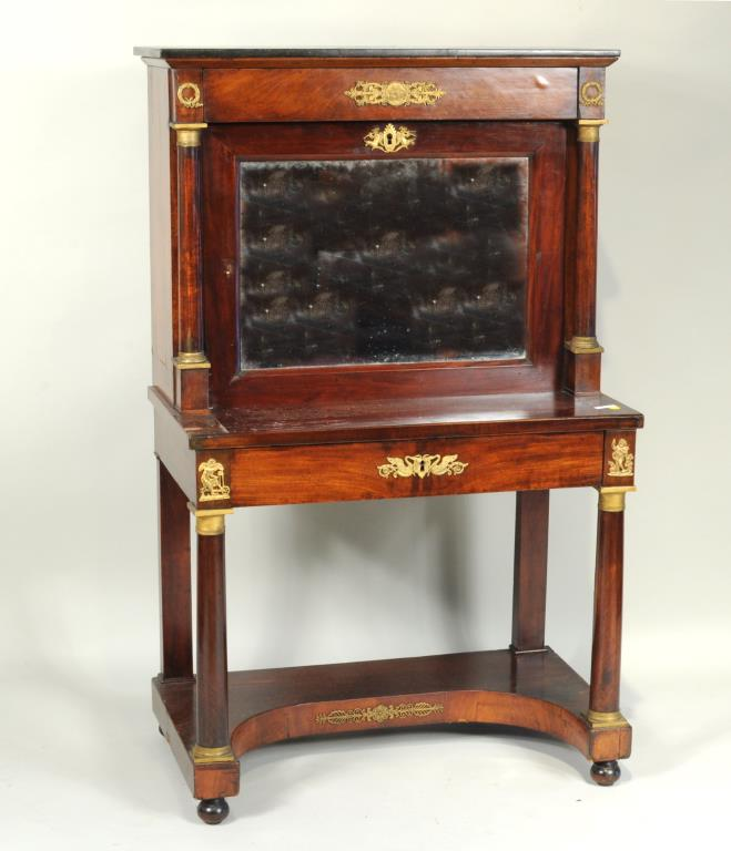 French Empire Mahogany Secretaire