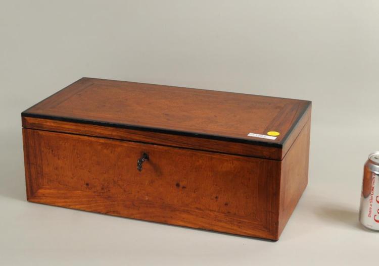 Continental Burlwood Veneered Vanity Box