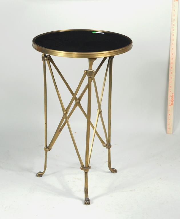 Empire Style Brass/Marble Gueridon